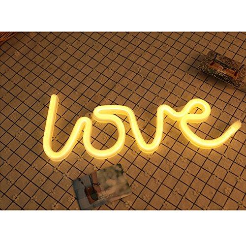 Luz LED de neón con señal de batería y luz de noche para habitación de niña, luz de pared para fiestas, vacaciones, bodas, día de San Valentín