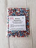 Royal wedding GLIMMER perle commestibili, 50 g, pasta di zucchero, torte