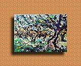 Pinturas al óleo de Arte Moderno Arte de Lienzo de Pared Pintura al óleo sobre lienzo de pared Decoración del hogar ilustraciones abstractas pintadas a mano - ULIVO VIVO olio su tela 50x70cm