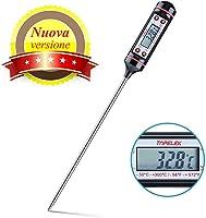 TOPELEK-Termometro Cucina, 5S Lettura Istantanea, 5.9 inch Sonda Lunga, Schermo LCD, Anti-Corrosione,Meglio per Carne,...