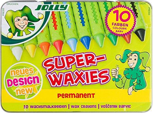 JOLLY 5955-0015 - Superwaxies Classic permanent, Lernmaterialien, 10er set