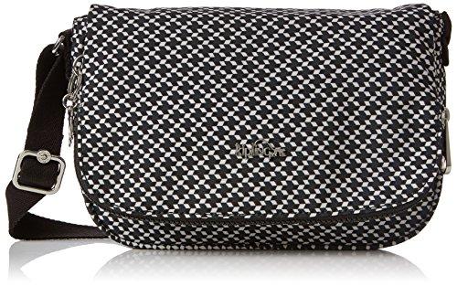 Kipling Damen Earthbeat S Umhängetasche, Mehrfarbig (Retro Geo Black), 15x24x45 centimeters (Retro-tasche)