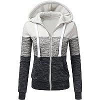 Newbestyle Femme Hoodies Sweatshirt Manches Longues à Capuche Veste Femmes