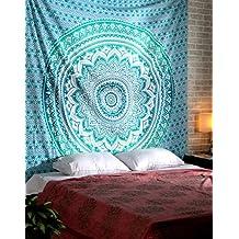 RAJRANG Tapiz pared, tapices de mandala pared, Psychedelic Tapestry Mandala, colgar en la pared, Hippie Wall Hanging Tapestry