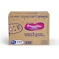 MamyPoko Pants Extra Absorb Diaper - Extra Large Size, Pack of 104 Diapers (XL-104)