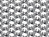 Fahrräder Print Baumwolle Popeline Stoff