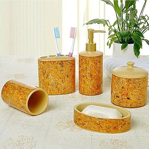 Continental bagno di resina quattro o cinque pezzo bagno vanity