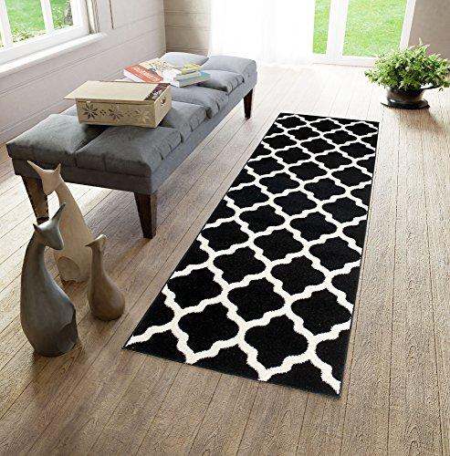 Läufer Teppich Brücke Teppichläufer - Orientalisches Marokkanische - Dichter Und Dicker Flor Modern Designer Muster - Ideal Für Ihre Wohnzimmer Schlafzimmer Esszimmer -