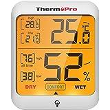 ThermoPro TP53 digitale thermo-hygrometer, thermometer, hygrometer, bewaking van de luchtvochtigheid in de kamer, met achterg