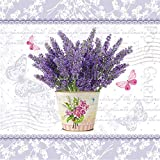 Flowering Lavender - paper napkins - 33x33cm - 3ply - Floral Decoupage by PAW