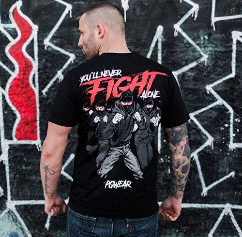 PG Wear -  Felpa con cappuccio  - Uomo YouLL Never Fight Alone