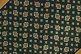 Mario Sedia Fleur-de-lis, Tapis de Couloir au mètre Classique - Vert 03 - Boquet - Largeur: 67cm - Longueur par mètre