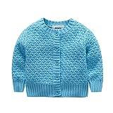 Brightup Bébé Fille Garçon Cardigan en tricot Veste Manteau Pull Pour 3-24 Mois