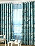 Textiles / Home ZQ 2 Paneele Kinder Zimmer Vorhang Blickdicht Schlaufen Oben -Blau