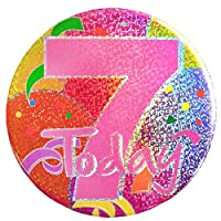 7 Today Pink Balloon Print Holographic Big Badge by Apac