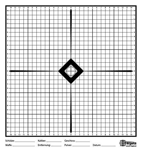 X-Targets Einschießscheiben / 33x35 cm/Papier 170g/m² (40 Stück)