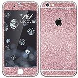 Urcover Glitzer-Folie zum Aufkleben | Apple iPhone 6/6s | Folie in Rosa | Zubehör Glitzerhülle Handyskin Diamond Funkeln Schutzfolie Handy-schutz Luxus Bling Glamourös