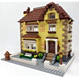Mattoncini da costruzione, casa, città, casa modulare, costruzione 828 mattoncini