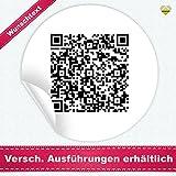 24 Aufkleber / Etiketten / Sticker | mit einem Wunsch QR Code » Funktion: Textinhalt | Rund | Ø 40 mm | Schwarz/Weiß | FQR001-wt | CuteLove & Head-Beat