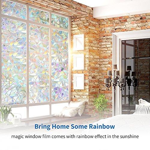 Rabbitgoo 3d pellicola adesiva per vetri pellicola per finestre pellicola decorativa pellicola - Pellicola specchio per finestre ...