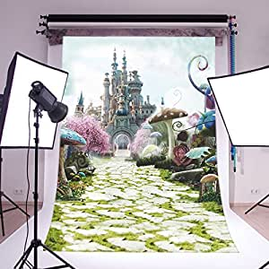 LOVE_BABY Thin Vinyl Seamless Studio Background Wonderland Photo Backdrop Movie Theme Photography Prop 5x7ft/150x210cm 6695