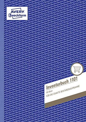Preisvergleich Produktbild Avery Zweckform 1101 Inventurbuch (A4, 50 Originale, mikroperforiert) weiß