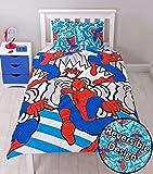 """Nuevo Spiderman superhéroe Reversible funda de edredón/edredón juego de cama infantil niños niñas, Spiderman """"Popart"""", suelto"""