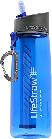 Lifestraw Go Advanced Reusable Personal Filter Water Bottle, 650ml (Blue)