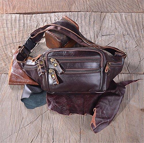 ZYPMM 2017 neue Retro-Taschen Leder Herren Taschen von High-End-europäischen und amerikanischen Mode-Gezeiten Persönlichkeit weiches Leder Geldbörse Braun