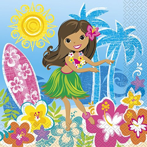 48-teiliges Hawaii Party Deko Set, Hula Beach für 16 Personen - 4