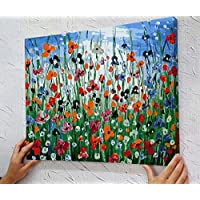 """MADE4U [20""""] [Wood Framed] Paint By Numbers Kit Canvas Mounted on Wood Frame with Brushes and Paints for [Home Decoration] Adults Children Seniors Junior DIY Bigginner Lever Arcylics Painting Kit on Canvas XL24"""