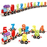 Webby Wooden Digital Colourful Train, Vehicle Pattern 0 to 9 Number, Educational Learning Toys for Kids