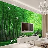 Wongxl 3D-Ansicht Custom Tv Hintergrund Tapeten Und Frische Bambuswald Cd-Taube Wohnzimmer Schlafzimmer Wandmalerei 3D Tapete Hintergrundbild Fresko Wandmalerei Wallpaper Mural 350cmX300cm
