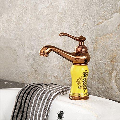 ETERNAL QUALITY Bad Waschbecken Wasserhahn Küche Waschbecken Wasserhahn Kupfer Badewanne Heiß Und Kalt Vintage Einlochkeramik Waschtischmischer BEG722 (Vintage-kupfer-badewanne)