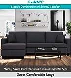 Furny Santa Clara 5 Seater Sectional Interchangeable Sofa (Grey)