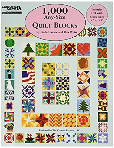 LEISURE ARTS 1000 Any Size Quilt Blocks