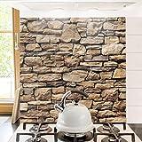 Bilderwelten Fliesenbild - Amerikanische Steinwand - Fliesensticker Set, Fliesengröße: 20 cm x 20 cm, Größe HxB: 60cm x 60cm