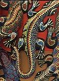 Decorazione da appendere, motivo: Geco, dipinto con pois, in stile aborigeno,...