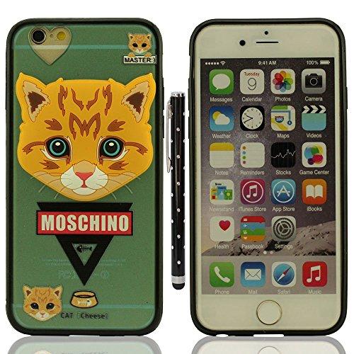 """Custodia Case per iPhone 6S / 6 4.7"""", Piccolo Cane Aspetto Serie Vari Dog Trasparente Chiaro Cover Molto magro + 1 Penna stilografica - POODLE A7"""