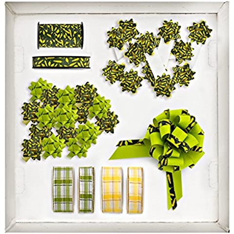 BRIZZOLARI mundo Bio Shop Box, plástico, amarillo/verde, 29x 38x 16cm