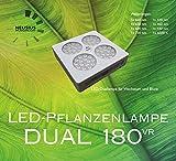 LED-Pflanzenlampe Dual 180VR Vollspektrum für Blüte- und Ertragspflanzen für bis zu 2,7m² Beleuchtungsfläche