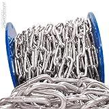 Seilwerk STANKE 8mm Rundstahlkette 10lfm langgliedrig Rolle Stahlkette -- DIN Eisenkette Stahl Eisen Kette abgerundet