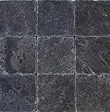 Wohnrausch Marmor Fliese schwarz Marble antik, 50 Stück, 10 x 10 x 1 cm, hell- bis dunkelschwarz, WFB1010