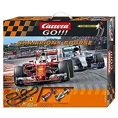 Idea Regalo - Carrera Toys GO Champions Course - Circuito automobilistico, 8,9 m, Nero/Rosso