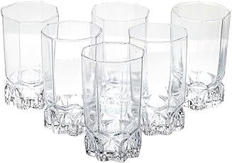 bloom Somil Beverage Tumbler Transparent Multipurpose Drinking Glass,(Clear) - Set of 6