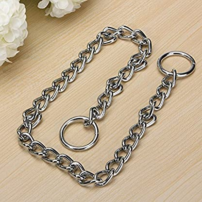 Kungfu Mall Pet Strong Steel Metal Training Pet Choker Chain Collar (L) 7