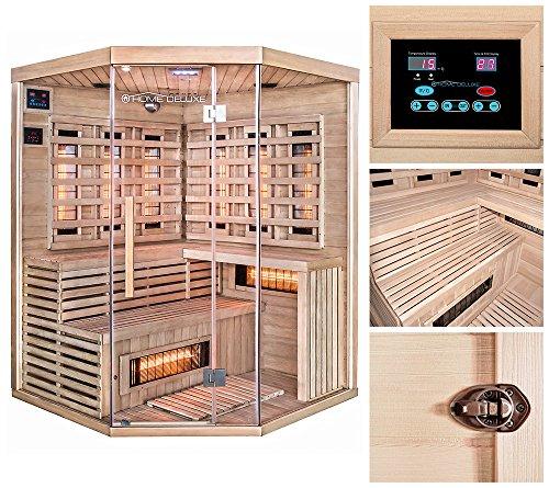 Outdoor-infrarot-sauna (Home Deluxe | Infrarotkabine | Sahara XXL | Vollspektrumstrahler | Inkl. vielen Extras und komplettem Zubehör)