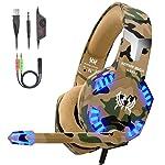 VersionTECH. Auriculares Gaming Cascos PS4 con Microfono, Diadema Ajustable, Bass OverEar 3,5mm Jack, Luz LED, Control de...