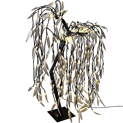 Multistore 2002 Beleuchtete Trauerweide 228 LED H85cm mit Lichteffekt Lichterdeko Stimmungslicht Leuchtbaum Stimmungsleuchte Lichterbaum