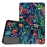 Coque Samsung Galaxy Tab A 10.1 - Fintie Slim Fit Housse Support Ultra-Mince et Léger Etui Cover avec Sleep Wake Up fonction pour Samsung Galaxy Tab A (2016) SM-T580 SM-T585 10,1' Tablette, Jungle Night